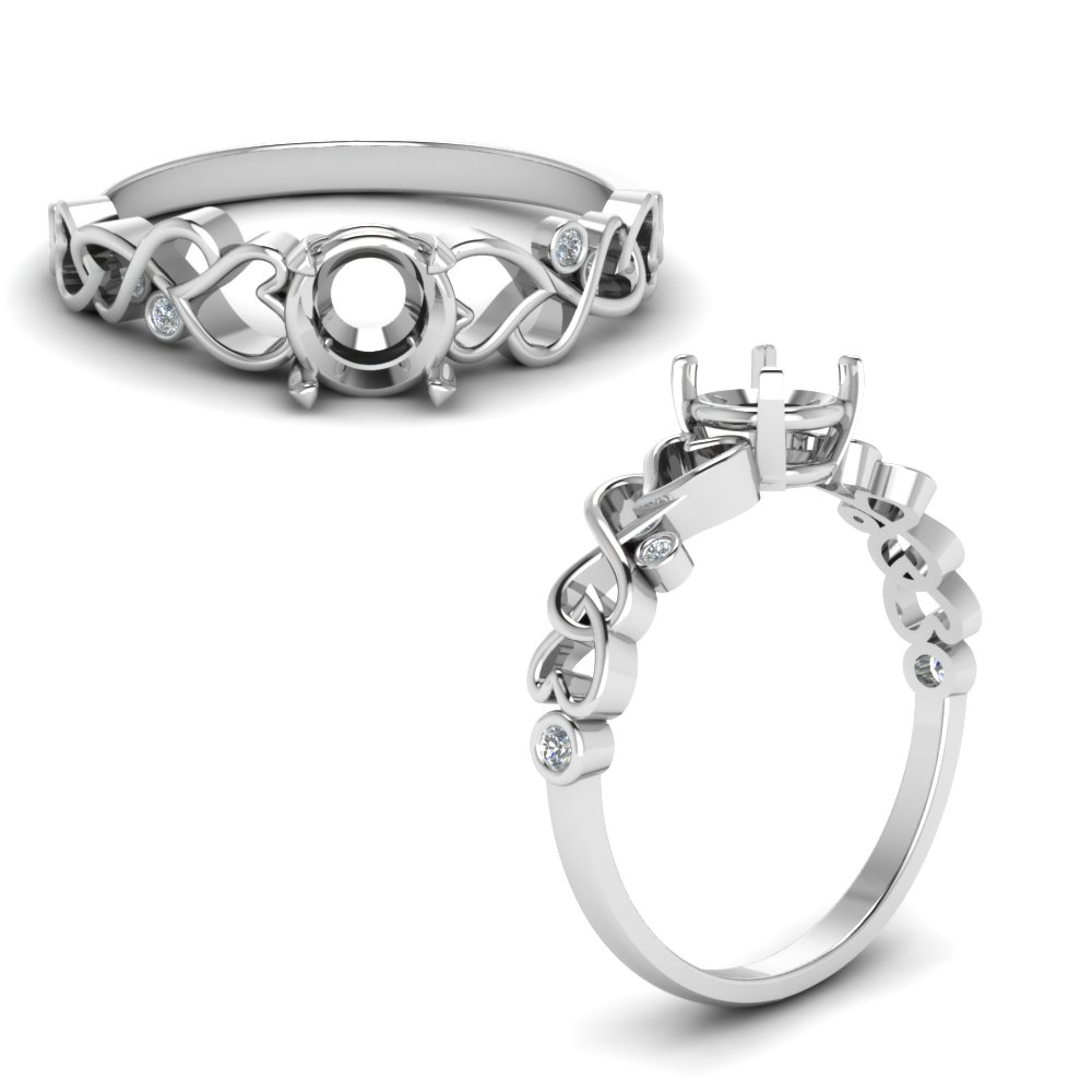 Intertwined Filigree Ring Setting