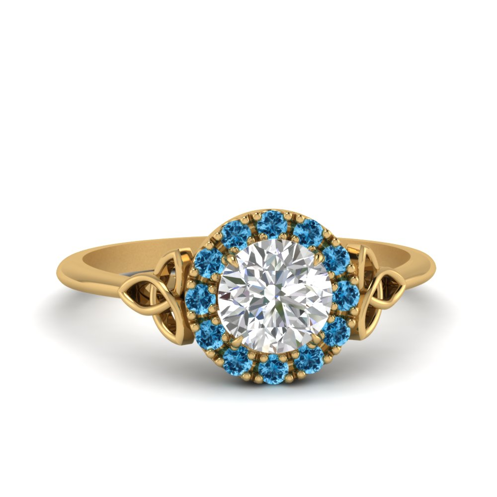 celtic-halo-diamond-ring-with-blue-topaz-in-FD124180RORGICBLTO-NL-YG