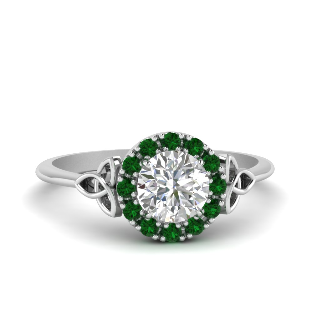 celtic-halo-diamond-ring-with-emerald-in-FD124180RORGEMGR-NL-WG