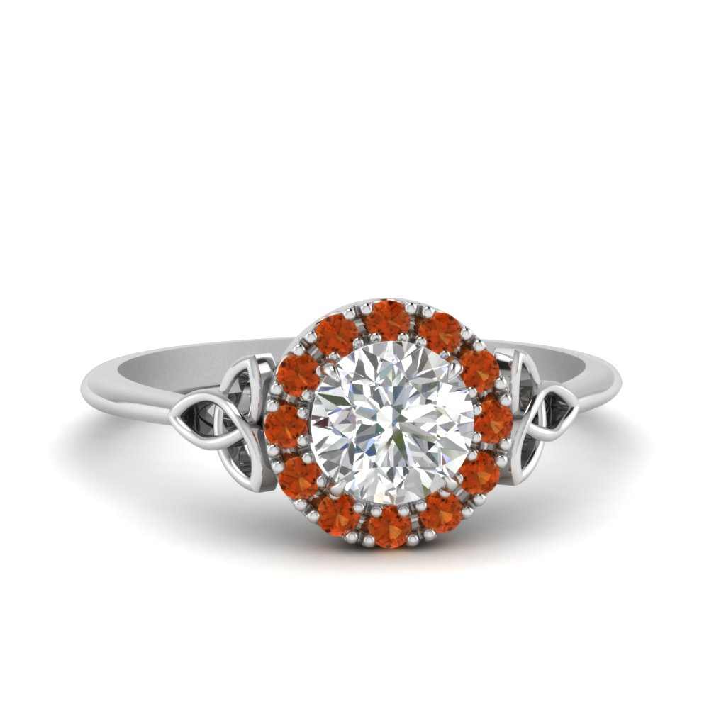Irish Halo Engagement Ring