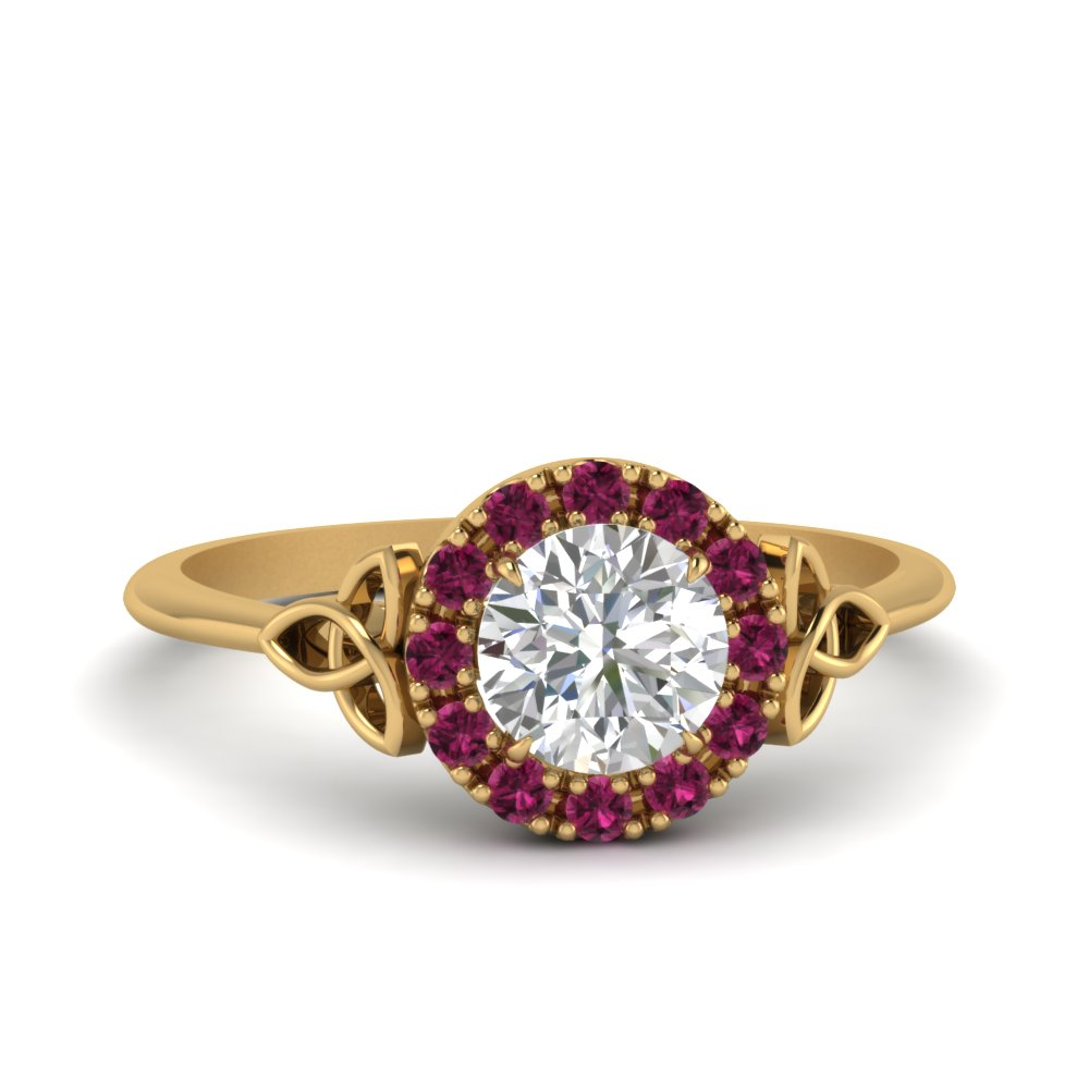 celtic-halo-moissanite-ring-with-pink-sapphire-in-FD124180RORGSADRPI-NL-YG