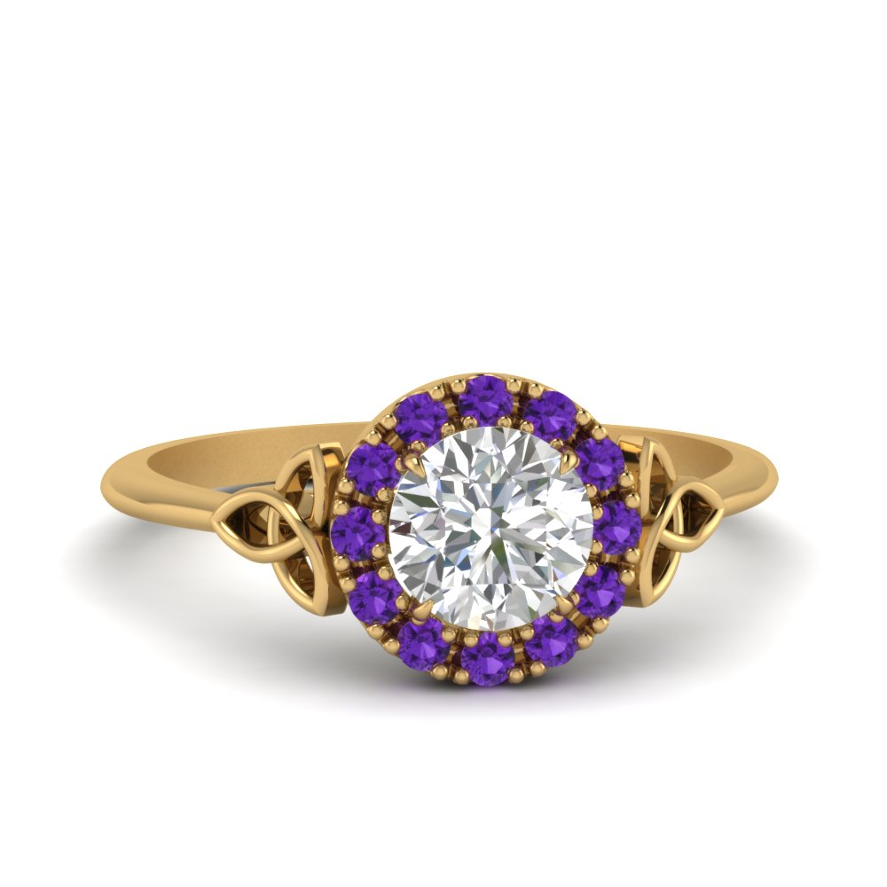 Purple Topaz Ring With Halo