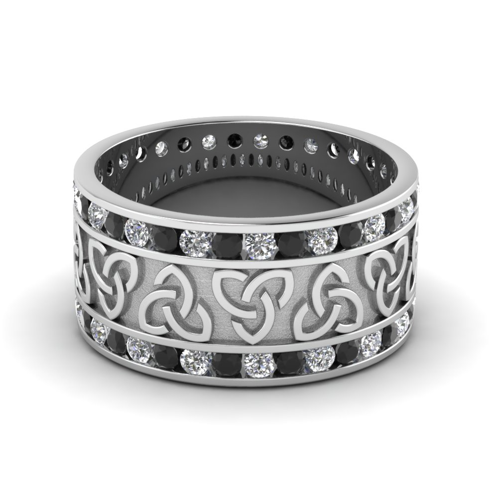 Black Diamond Celtic Knot Band