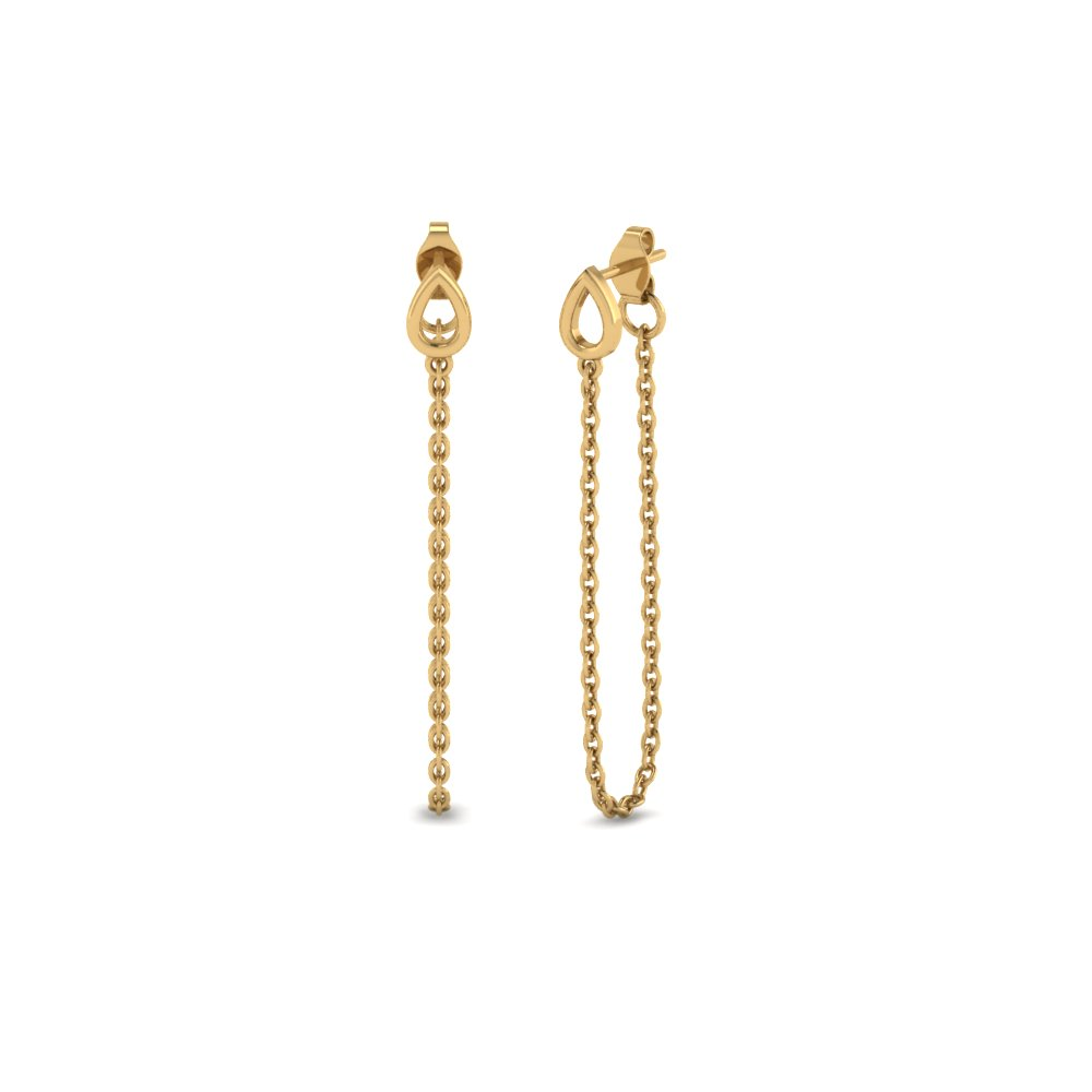 chain gold drop earring in 14K yellow gold FDEAR652391 NL YG