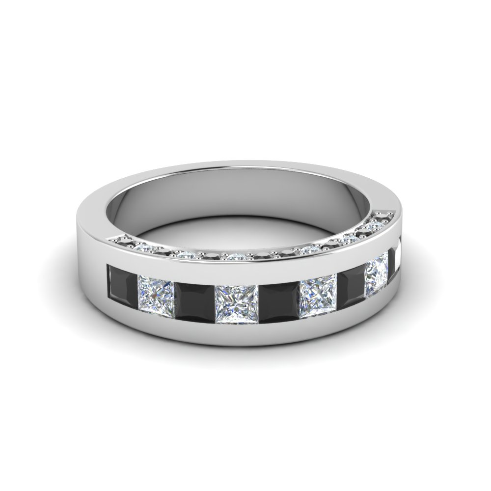 Channel And Pave Set Diamond Band