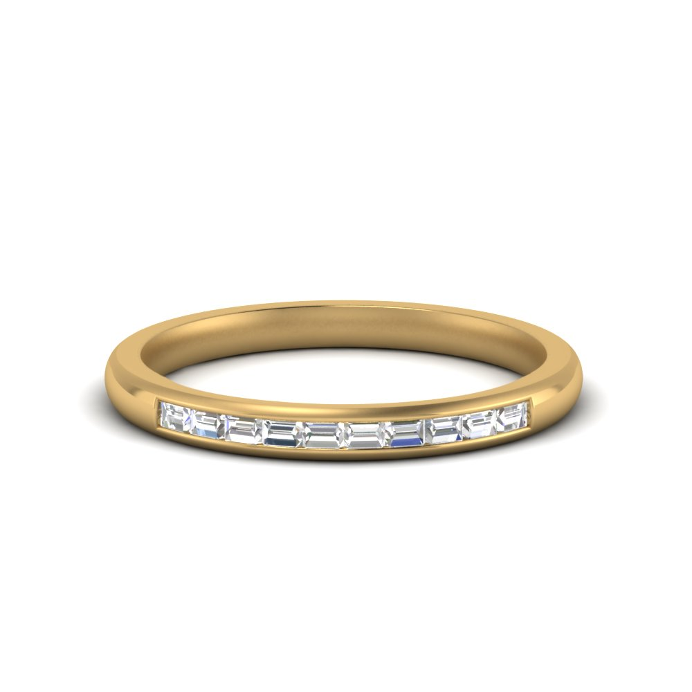 Channel Baguette Ring In 14K Yellow Gold