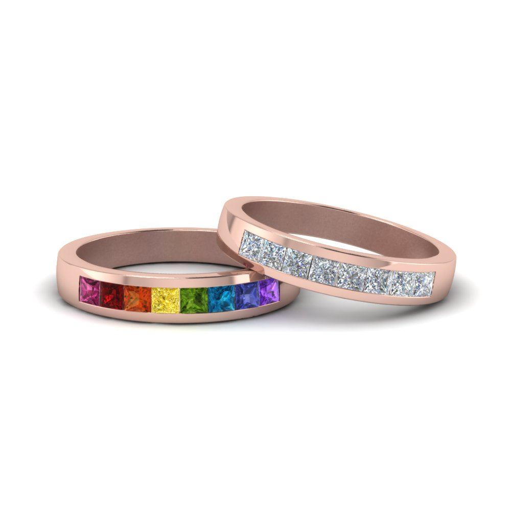 Channel Diamond Band For Lesbian