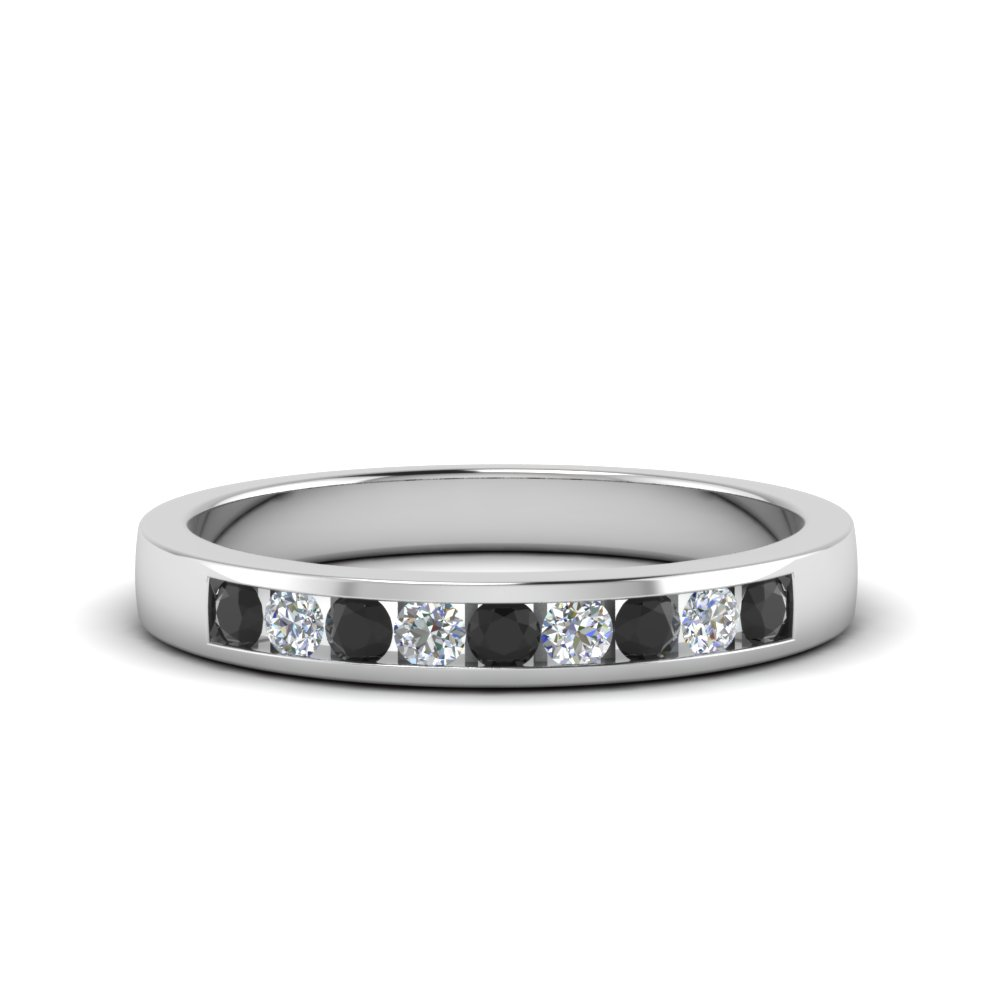 channel round wedding band with black diamond in FDMR1205GBLACK NL WG