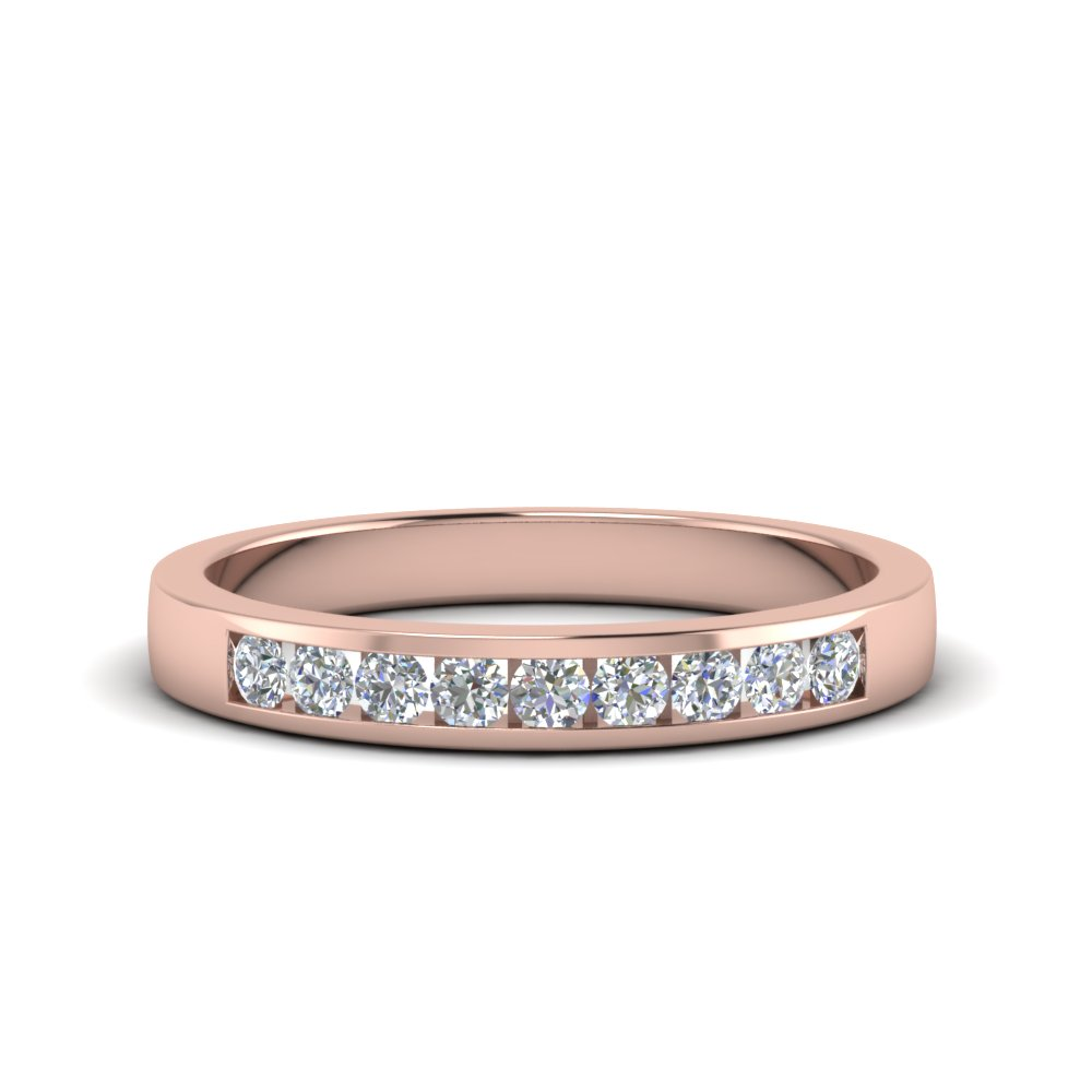 Channel Round Diamond Band
