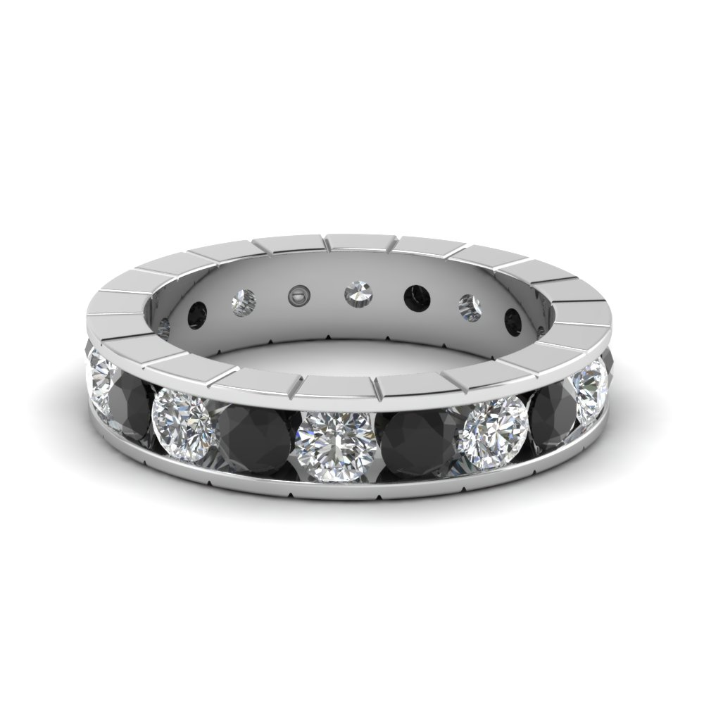 ring b eternity diamond black bands band