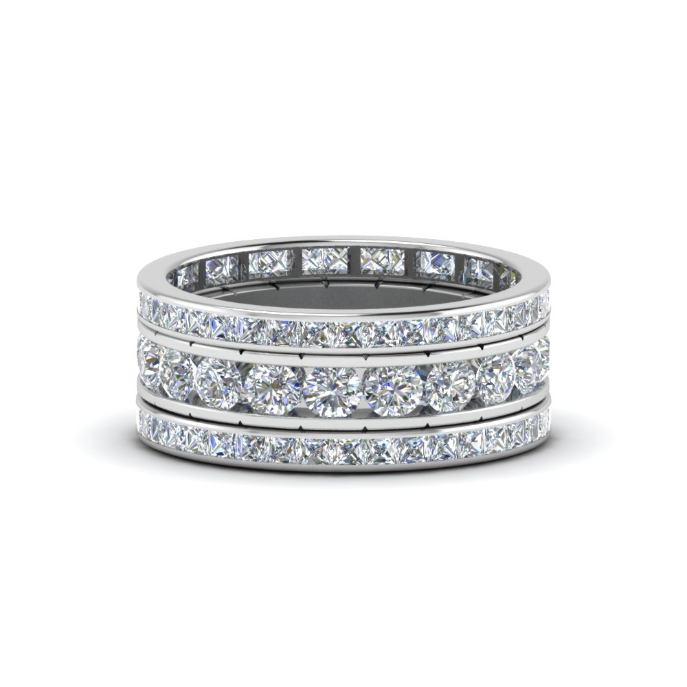 rings channel set diamond platinum htm wedding from bands manufacturers ring in dress
