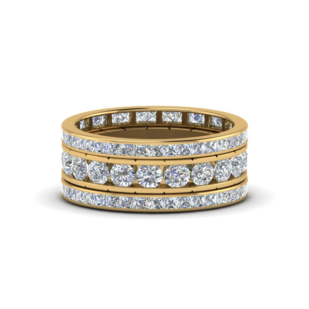 channel set diamond eternity stack band in FD8412B NL YG