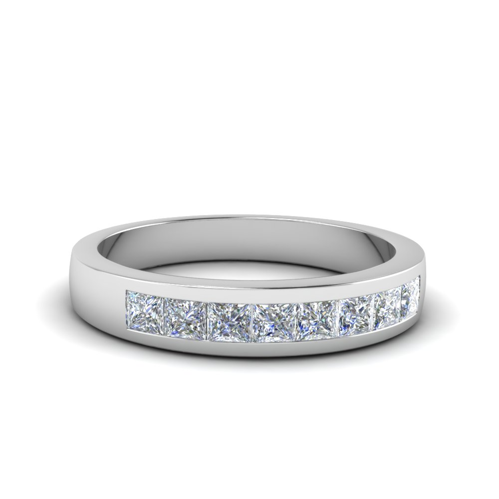 Channel Set Platinum Wedding Bands