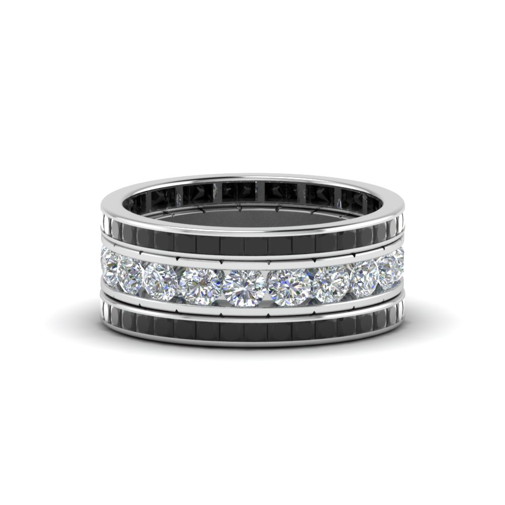 Channel Set Diamond Eternity Stack Band