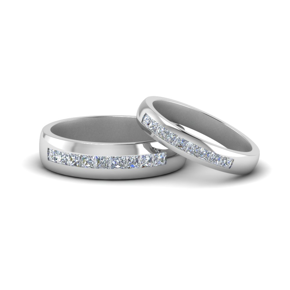 Channel Diamond Promise Rings