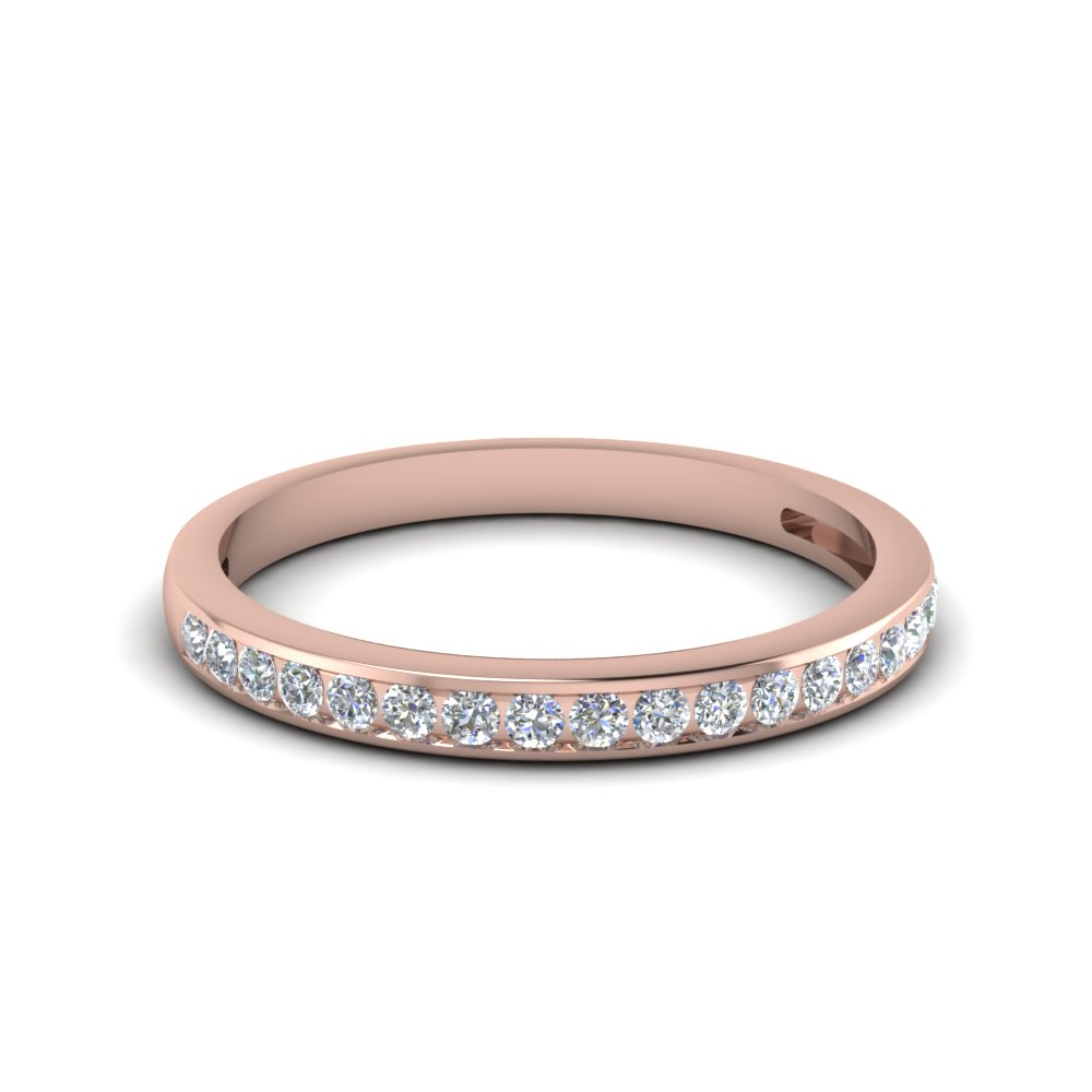 Rose Gold Wedding Bands Women