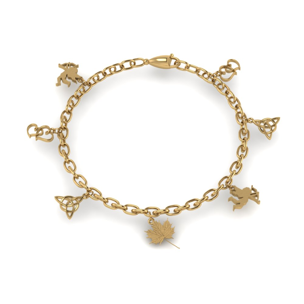 Charm Bracelet Gifts In Fdbrc8658angle2 Nl Yg