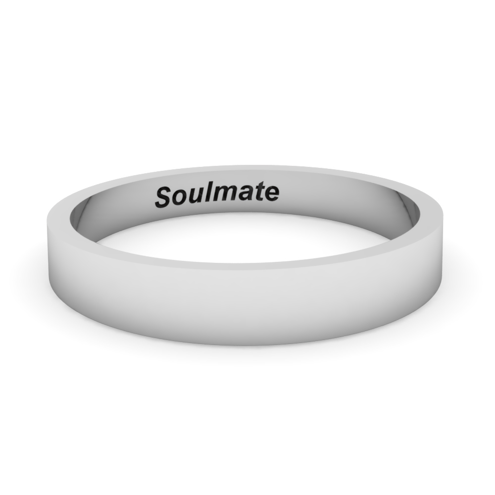 cheap engraved promise ring for men in 14K white gold FDFT7B 4MM NL WG
