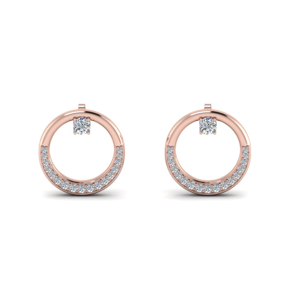 Circle Diamond Stud Earring