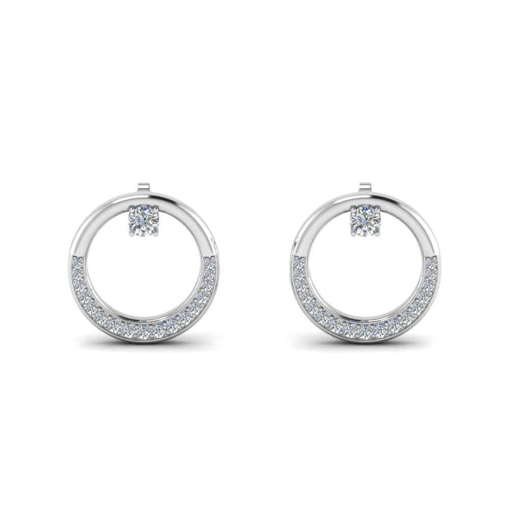 Open Circle Diamond Earring