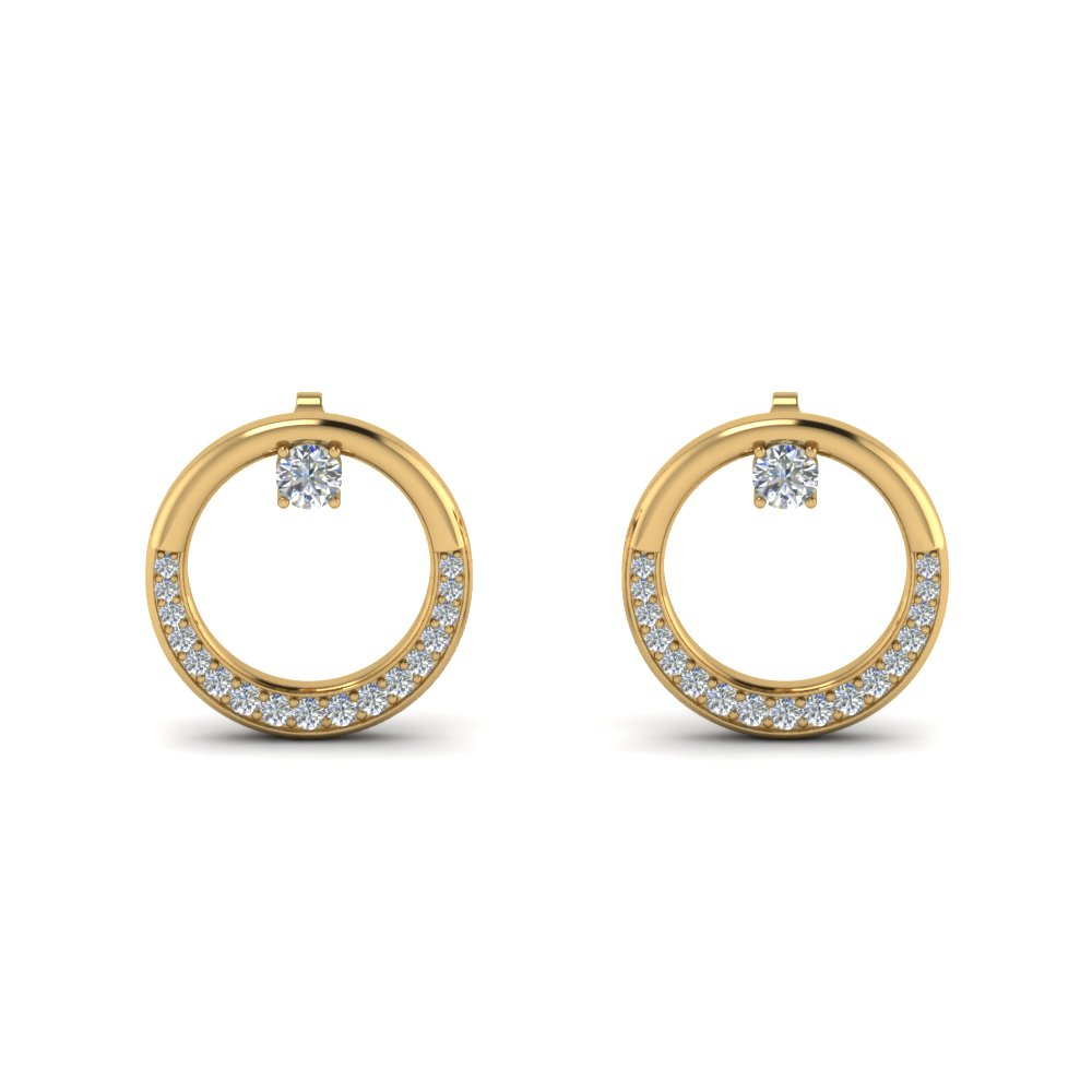 Glossy Open Circle Stud Earring