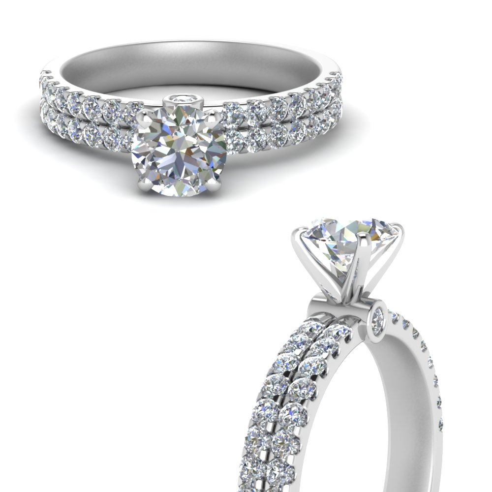 Classic 2 Row Diamond Ring