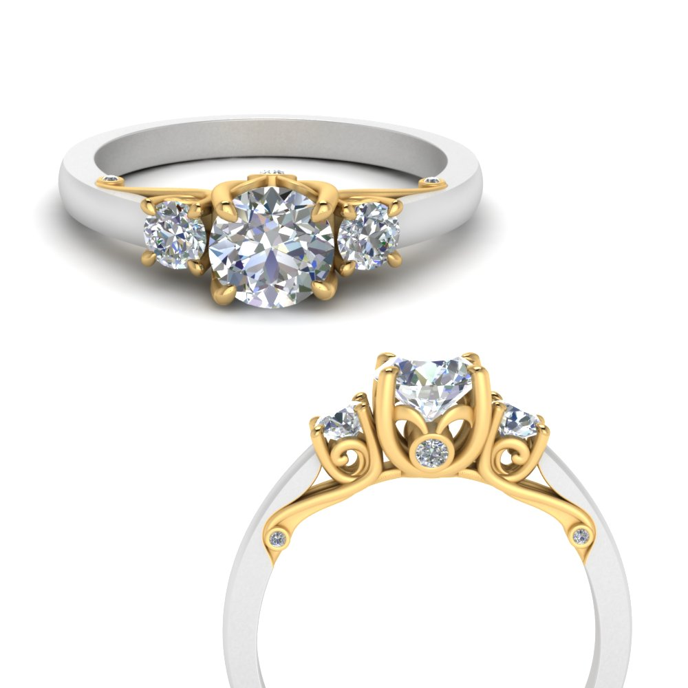 classic-2-tone-round-3-stone-diamond-engagement-ring-in-FD123398TRORANGLE3-NL-YG