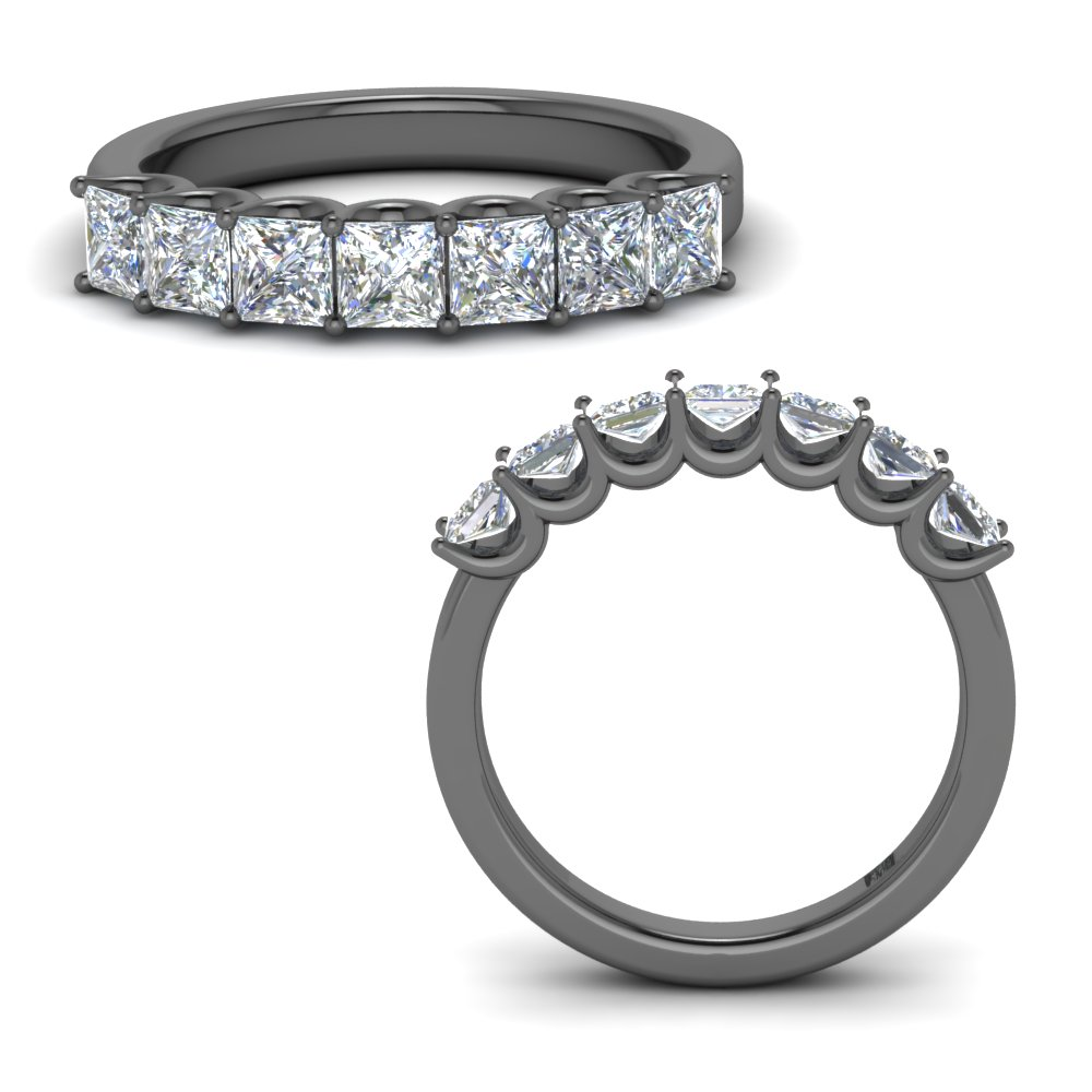 7 Stone 1.25 Ct. Black Gold Band
