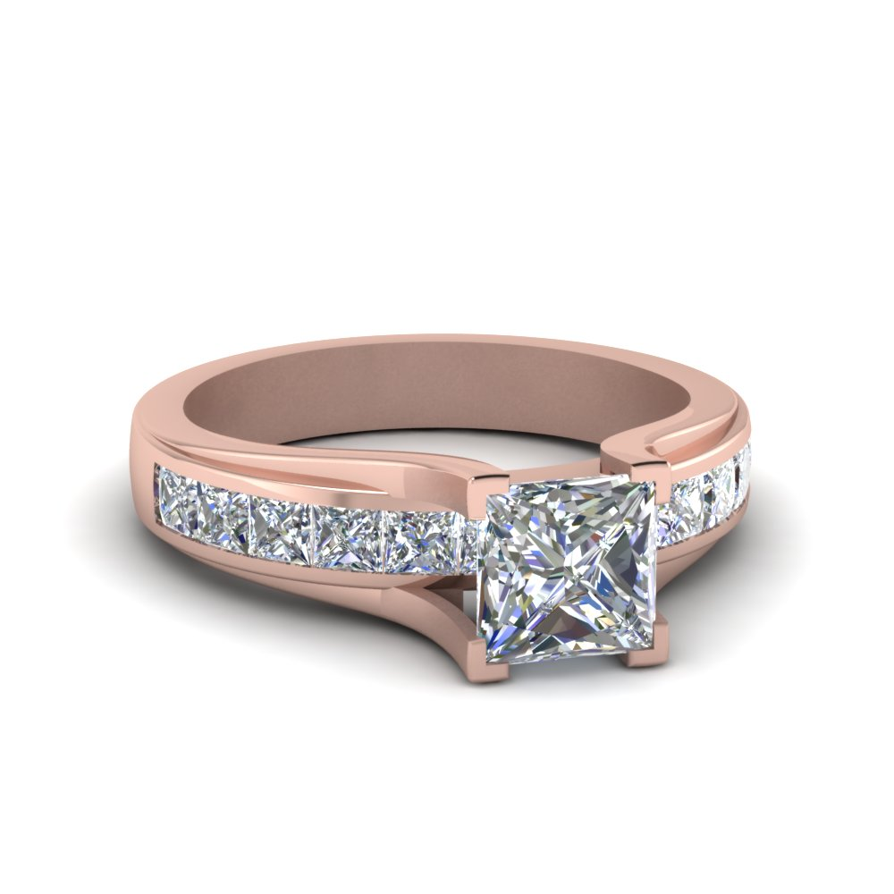 Channel Set Square Diamond Ring