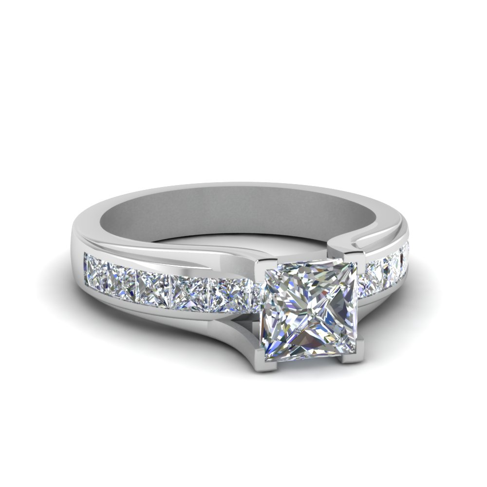 Classic Channel Set Square Diamond Ring