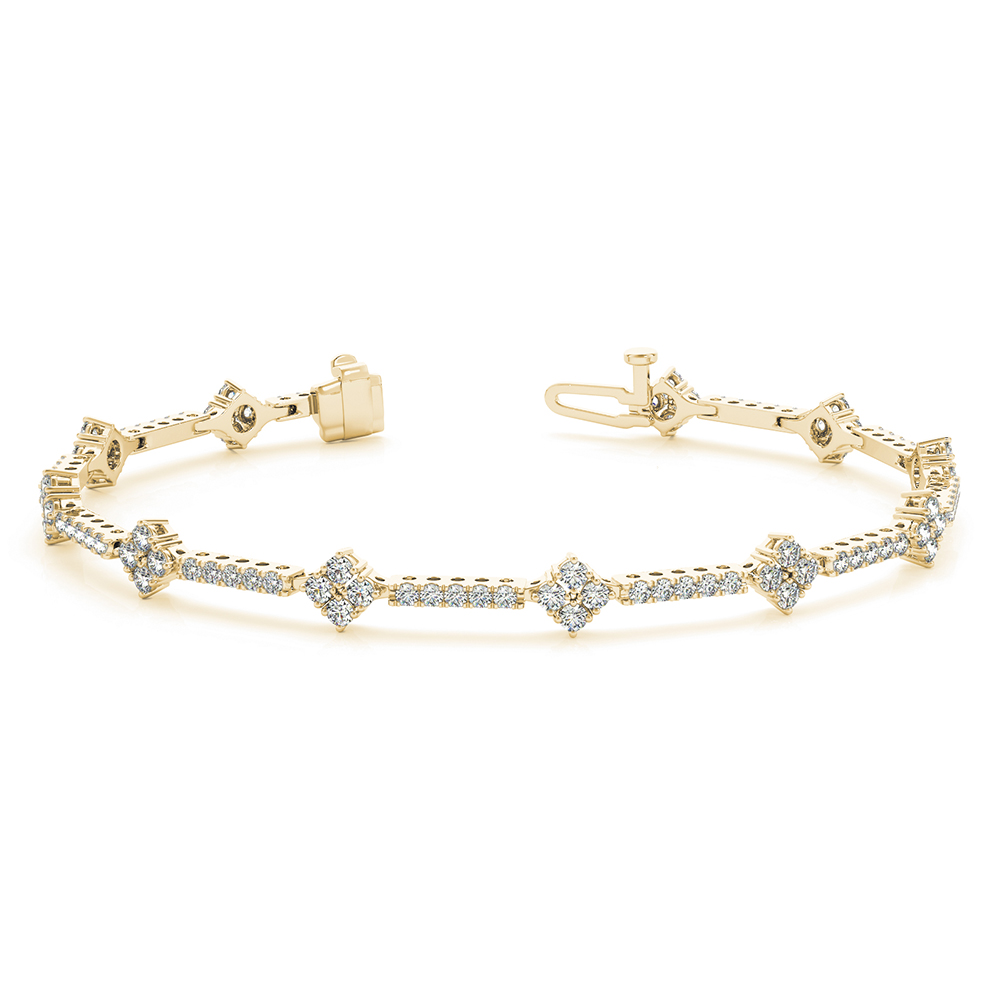 in line bracelet diamond white jewelry collection style riviera unique product gold