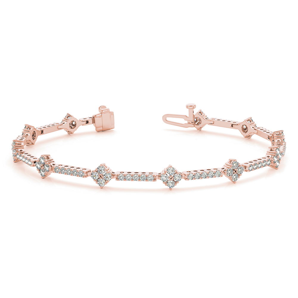 Clic Design Tennis Diamond Bracelet In Fdobr70310 Nl Rg