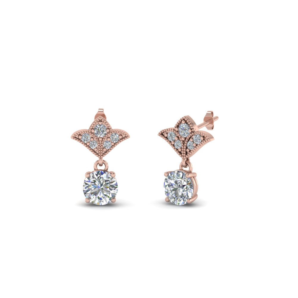 Round Cut Diamond Classic Earring