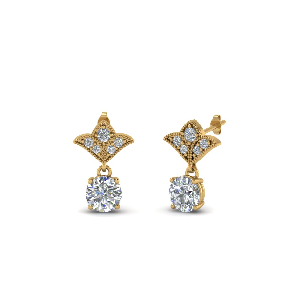Half Carat Diamond Antique Earring