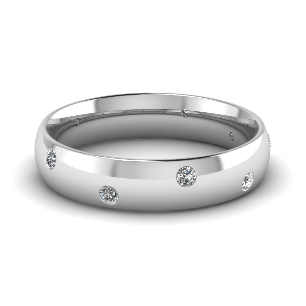 Shop For Affordable 18k White Gold Mens Wedding Rings