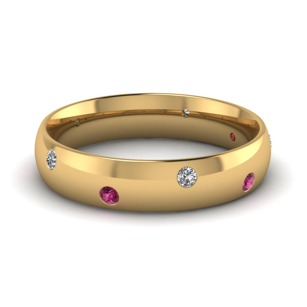 Get Inexpensive Pink Sapphire Mens Wedding Rings Fascinating Diamonds