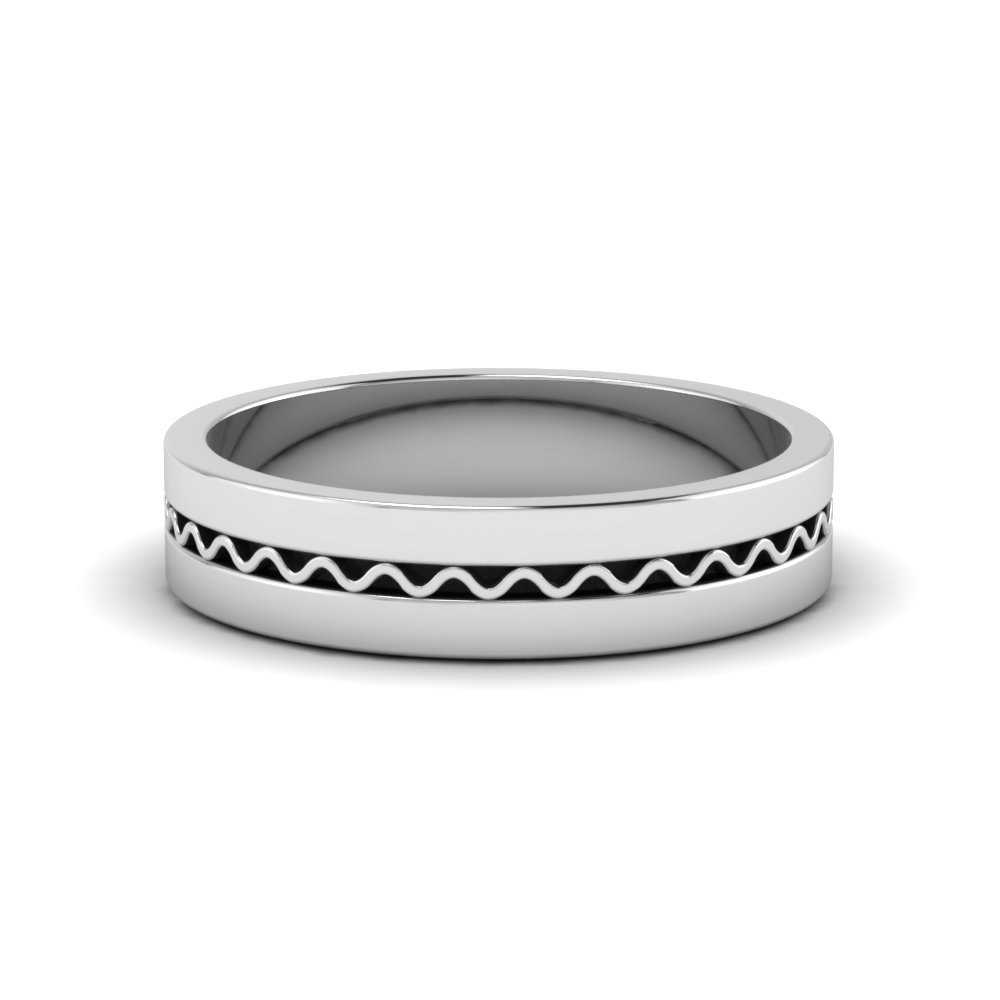 Classic Flat Wedding Mens Ring