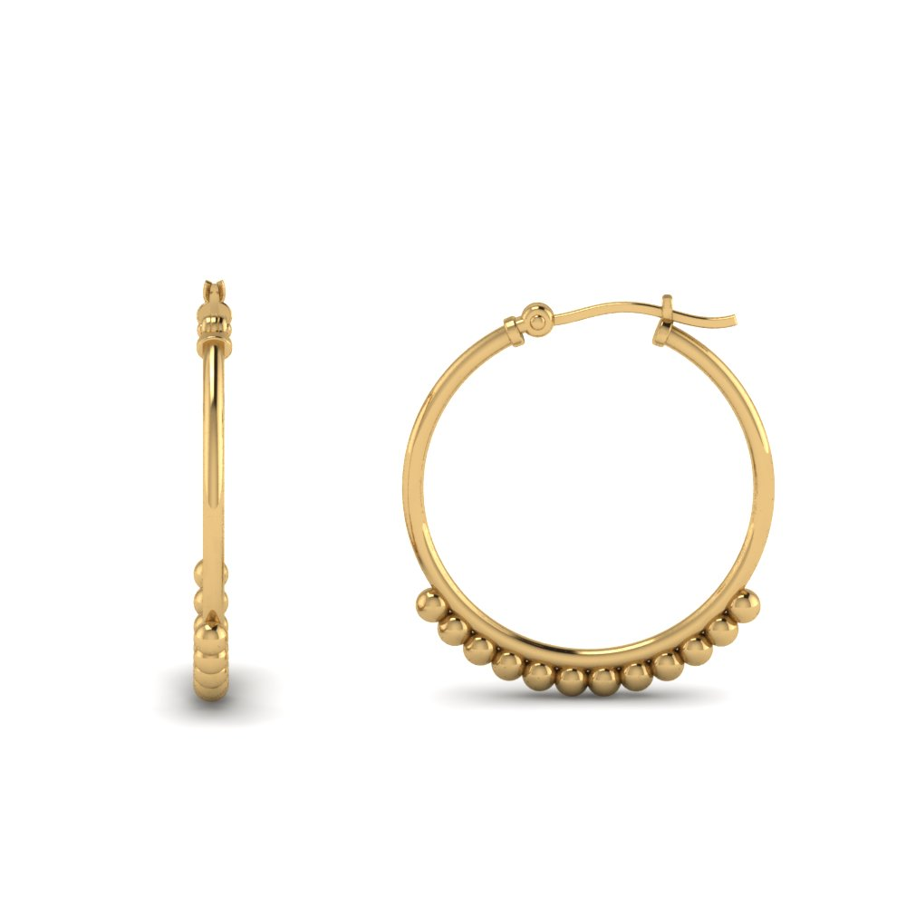 classic hoop earring for girls in FDEAR8969  NL YG