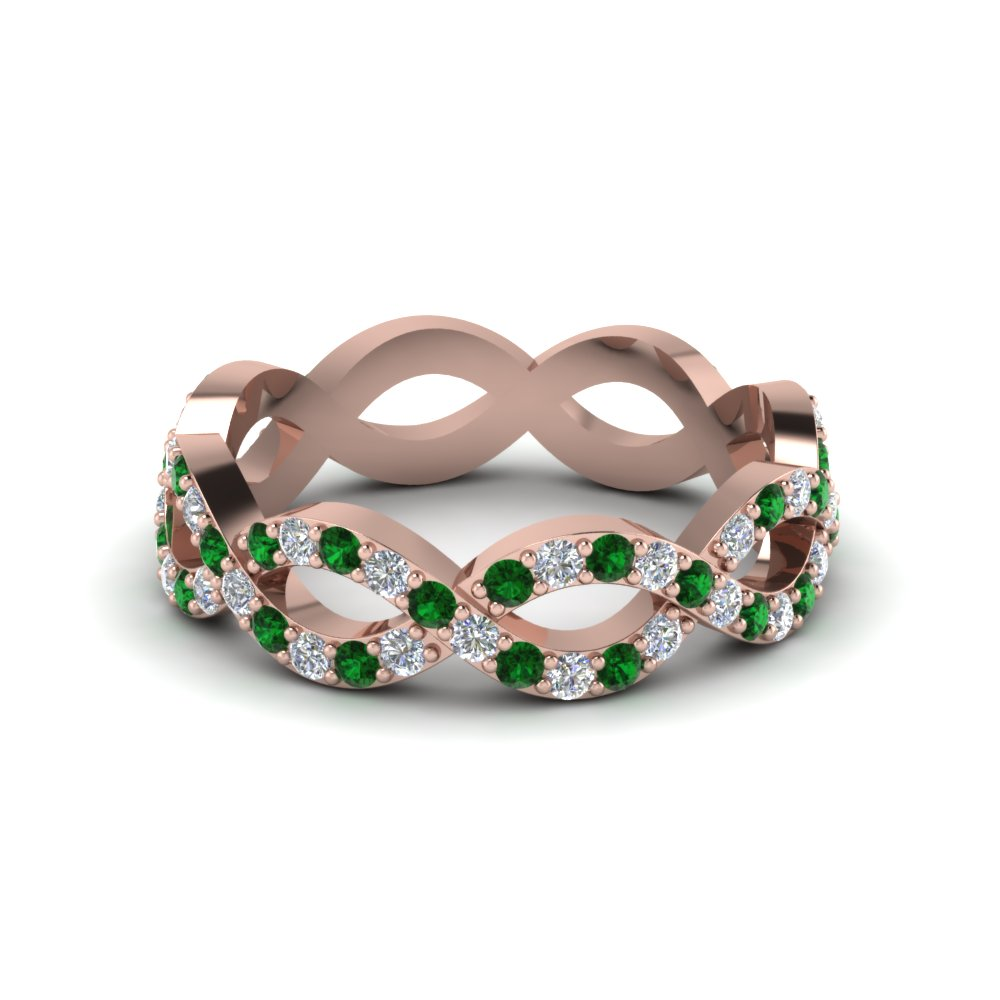 Infinity Design Emerald Eternity Band
