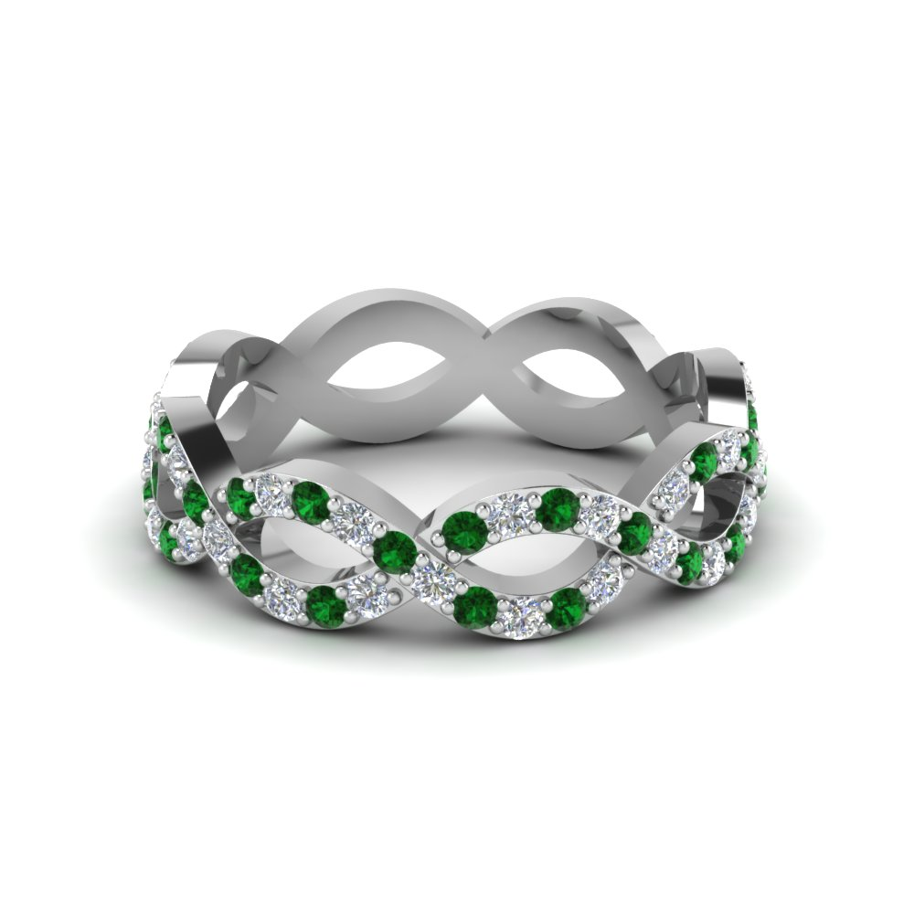 bling sterling mdr silver emerald pave jewelry bands band ring par glass eternity cz infinity previous