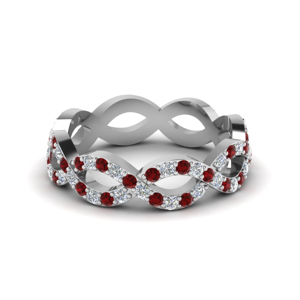 Accent Ruby Infinity Eternity Band