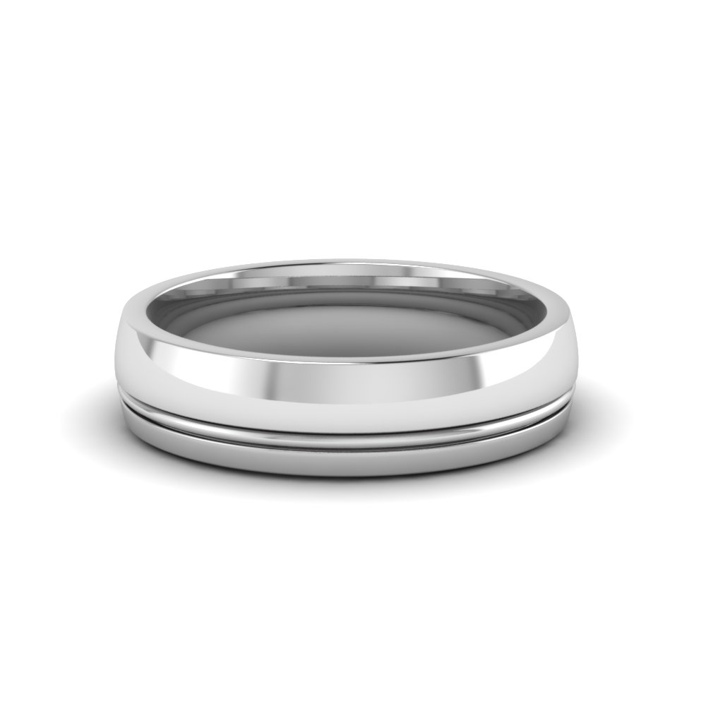 Platinum Texture Wedding Band