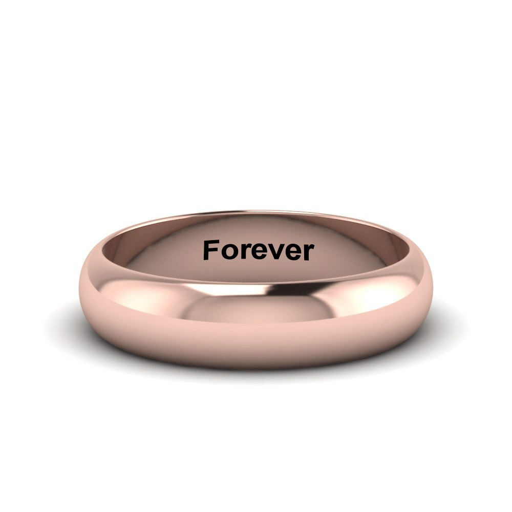classic promise ring engraved in 14K rose gold FDHR12B 6MM NL RG