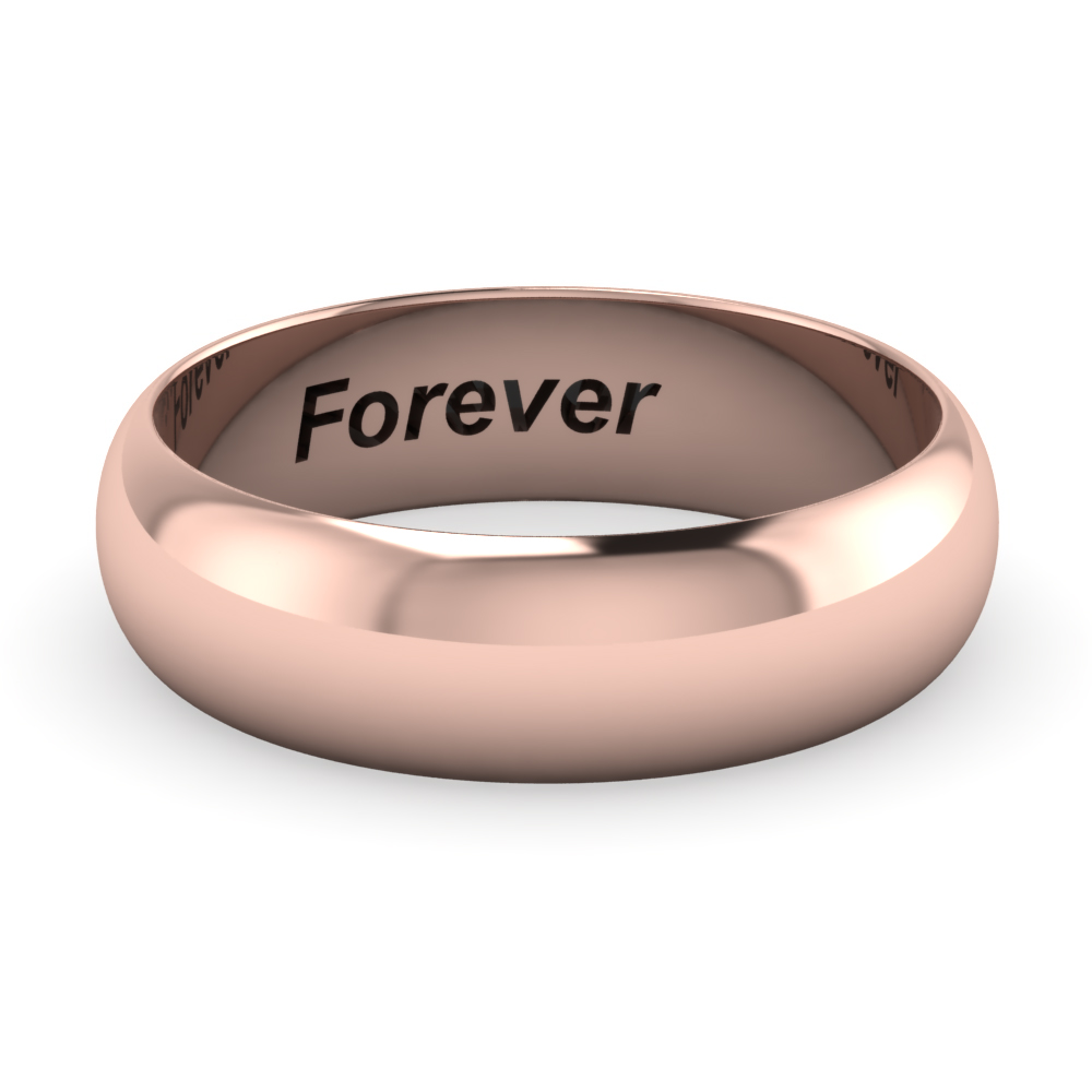 classic promise ring engraved in FDHR12B 6MM NL RG