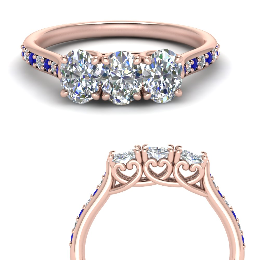 Oval Classic Prong Sapphire Band