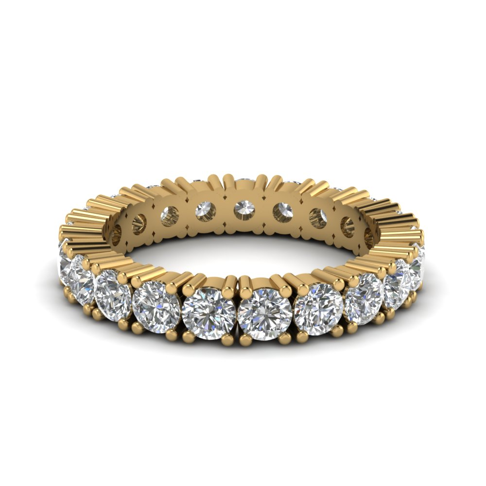 Yellow Gold Eternity Bands