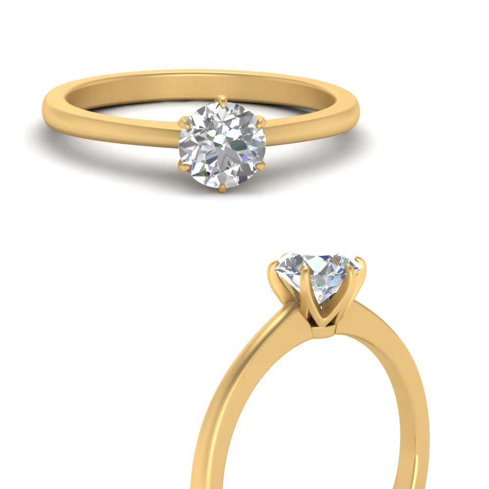 classic-six-prong-round-solitaire-lab diamond engagement-ring-in-FD9334RORANGLE3-NL-YG