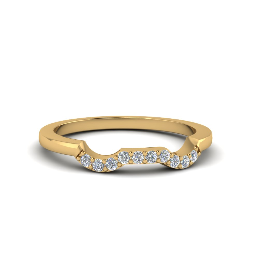 classic stone twist diamond wedding band in 14K yellow gold FDENS3082B NL YG