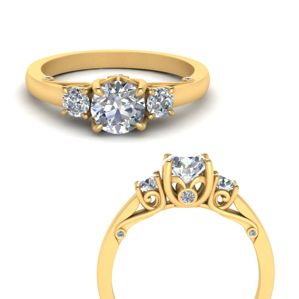 classic-three-stone-moissanite-engagement-ring-with-underneath-scroll-in-FD123398RORANGLE3-NL-YG