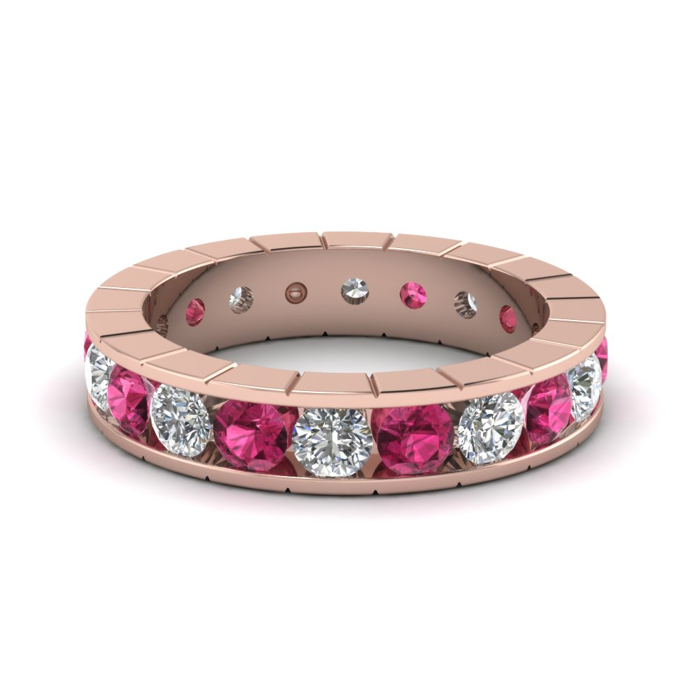 Pink Sapphire Channel Set Band